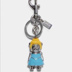 NWT COACH X Disney Princess Cinderella Bear Bag Charm Keychain